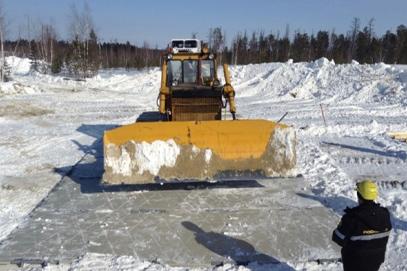 Отработка эксплуатации покрытий зимой