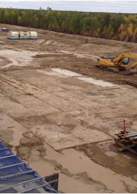 Как производится строительство временных дорог